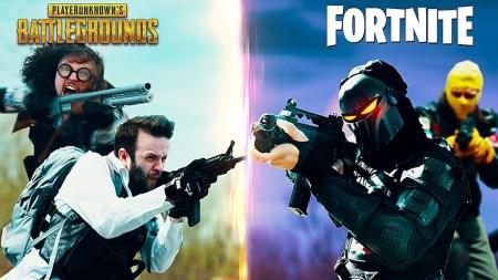Кто победит в «Королевской битве», если на одном поле боя столкнутся игроки PUBG и Fortnite [видео]