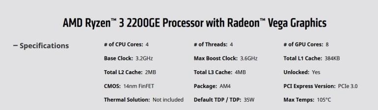 AMD выпустила энергоэффективные APU Ryzen 3 2200GE и Ryzen 5 2400GE, но откладывает выход Ryzen 7 2800X