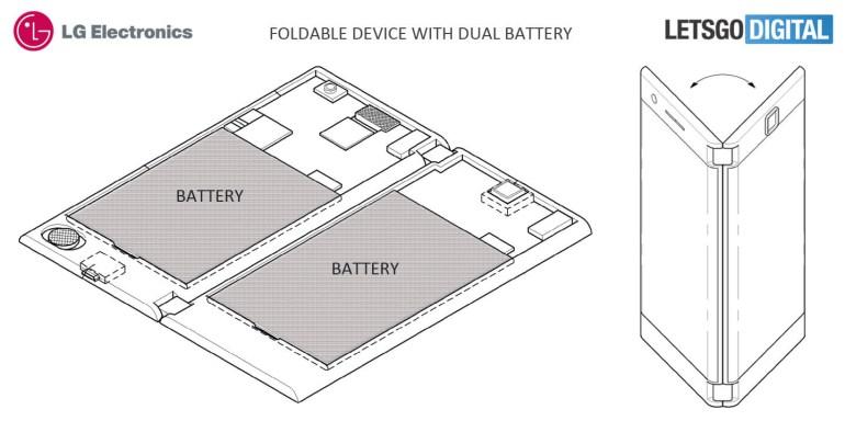 LG запатентовала смартфон-раскладушку с двумя скругленными экранами, батареями и аудиовыходами для совместного потребления контента