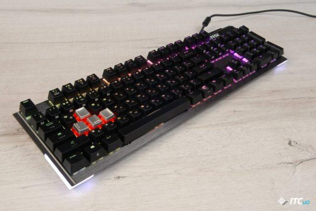 Обзор игровой механической клавиатуры MSI Vigor GK80 - ITC.ua