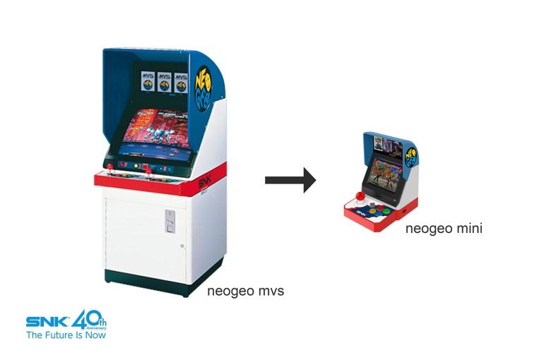 Японская компания SNK анонсировала микро-версию аркадного автомата Neo Geo Mini с 40 предустановленными играми