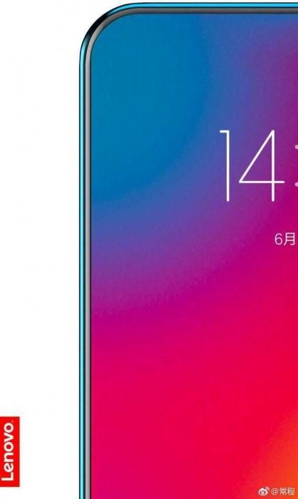 Lenovo дразнит рекламным изображением нового смартфона, у которого экран занимает более 95% площади лицевой панели