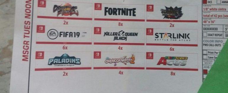 На выставке E3 2018 представят целый ряд игр для Nintendo Switch, включая Fortnite, FIFA 19 и Dragon Ball FighterZ