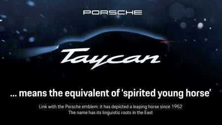 Porsche опубликовала первое тизерное видео серийного электромобиля Porsche Taycan (бывший Mission E)