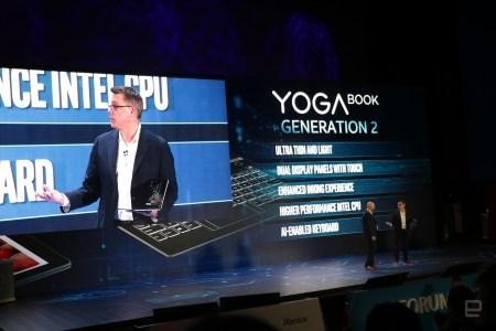 Lenovo создала гибридное устройство Yoga Book второго поколения с двумя дисплеями
