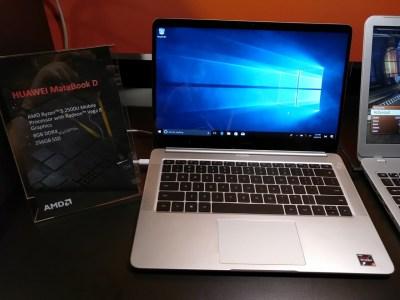 Huawei создала 14-дюймовый ноутбук MateBook D с APU AMD Ryzen 5-2500U