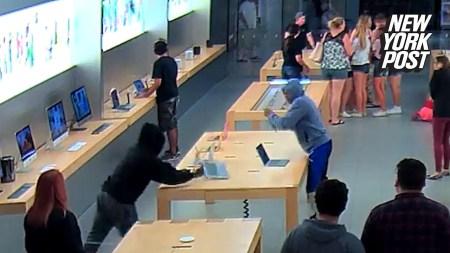 «Украсть за 30 секунд»: В Калифорнии грабители среди белого дня вынесли из магазина Apple техники на $27 тыс.