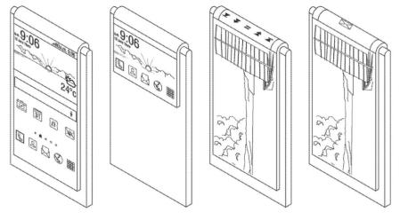 Samsung запатентовал смартфон с «загнутым» назад дисплеем и единственной фотокамерой