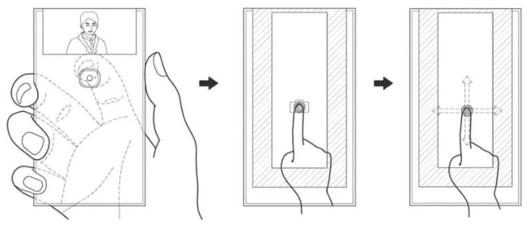 """Samsung запатентовал смартфон с """"загнутым"""" назад дисплеем и единственной фотокамерой"""