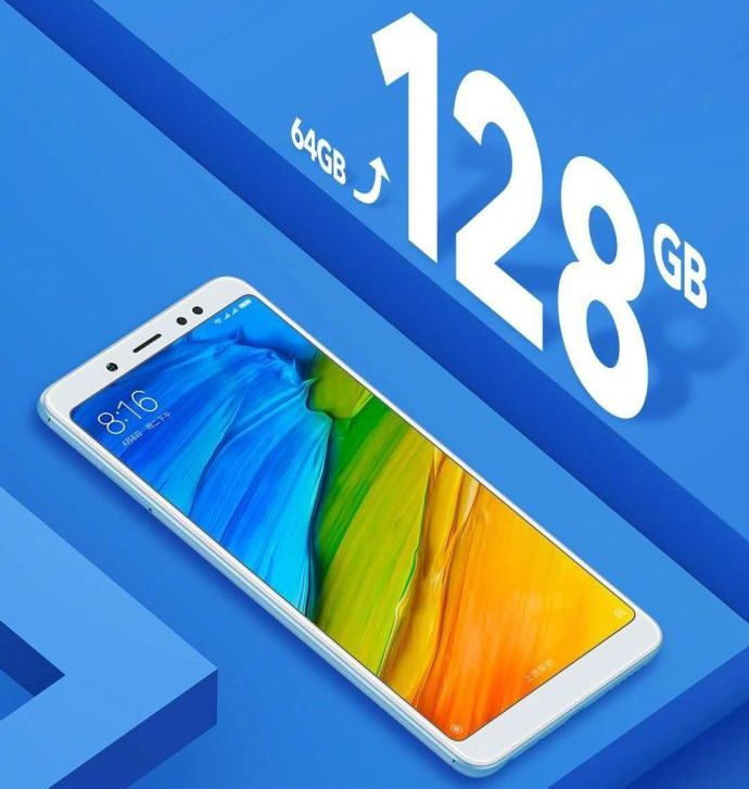 Смартфон Xiaomi Redmi Note 5 получил в два раза больше памяти, цена осталась прежней