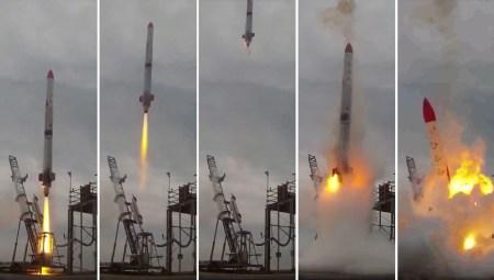 Японская частная ракета MOMO-2 упала и взорвалась через несколько секунд после старта