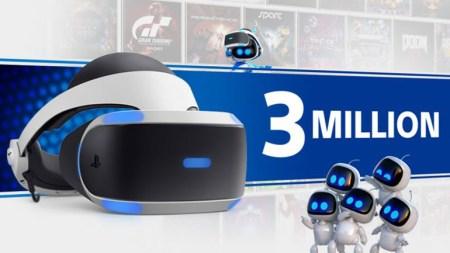 Sony продала 3 млн гарнитур PlayStation VR и почти 22 млн копий VR игр и контента