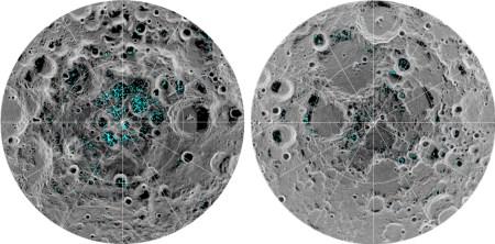 NASA получило прямые доказательства существования воды на полюсах Луны