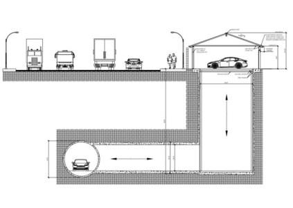 The Boring Company предлагает делать въезд в подземные тоннели прямо из гаража владельца автомобиля