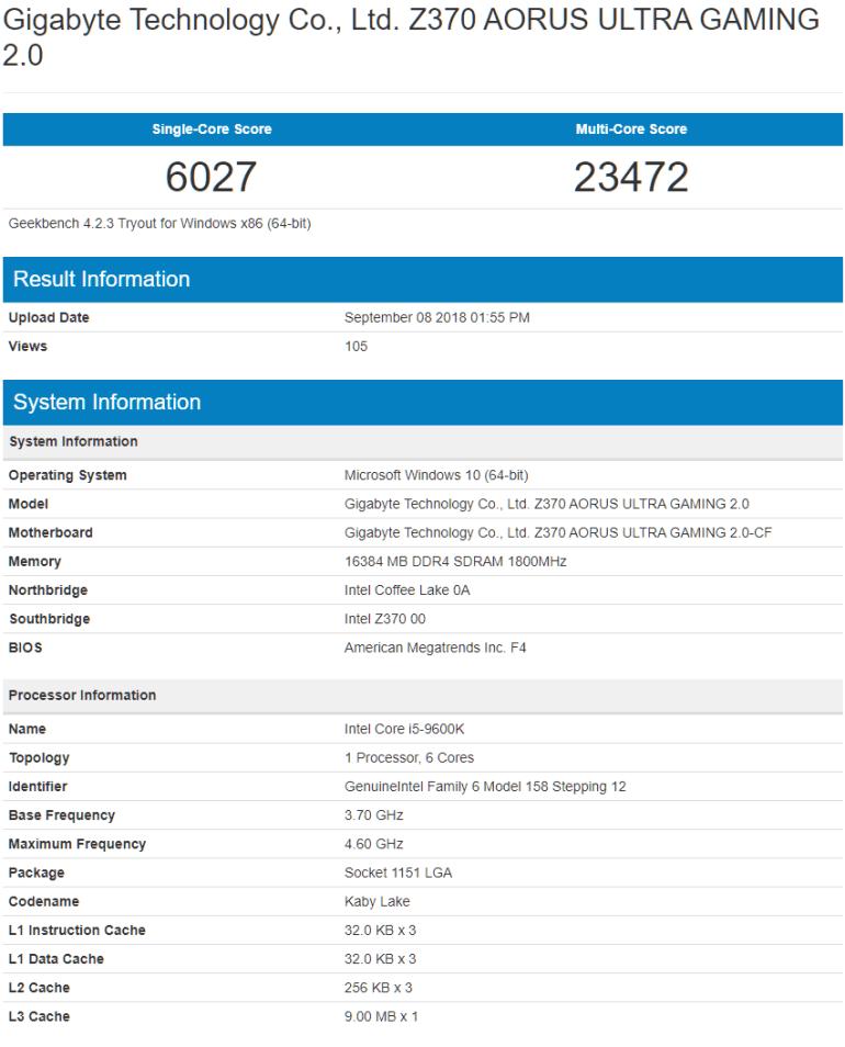 Процессоры Intel Core i9-9900K, Core i7-9700K и Core i5