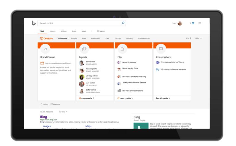 Новый поиск Microsoft Search будет использоваться в Office, Windows, Bing и других продуктах компании