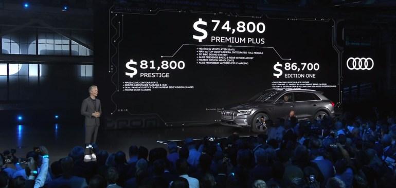 Серийный электрокроссовер Audi e-tron представлен официально: 300 кВт мощности, батарея на 95 кВтч, запас хода 400 км (WLTP) и ценник от $75 тыс.