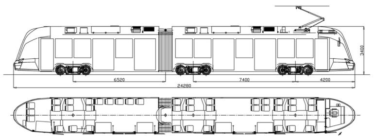 Украинская компания «Татра-Юг» показала свой первый полностью низкопольный трамвай К-1Т206