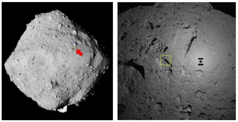 Станция Hayabusa-2 получила детальный снимок поверхности астероида Рюгу с расстояния 64 метра