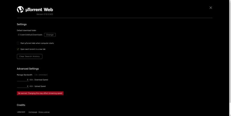 У uTorrent теперь есть веб-версия, но она не работает без установки клиентского приложения