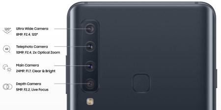 Новый смартфон Samsung Galaxy A9 действительно получил четыре камеры на задней панели