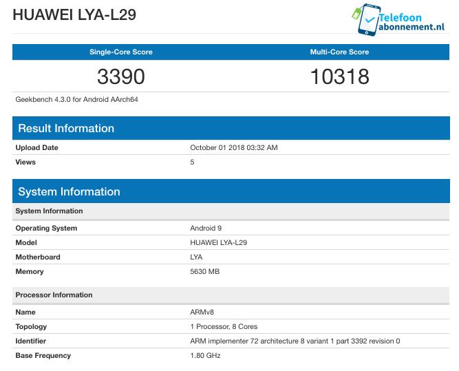 Флагманский смартфон Huawei Mate 20 Pro на 7-нм SoC Kirin 980 в тесте Geekbench уступает Apple iPhone Xs на Apple A12