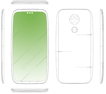 LG патентует изогнутый смартфон с семью камерами