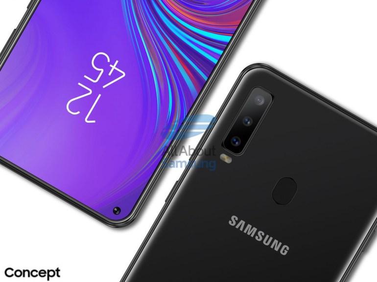 Смартфон Samsung Galaxy A8s, оснащенный экраном Infinity-O с точечным вырезом под фронтальную камеру, показался на качественных рендерах