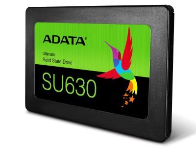 ADATA представила SSD Ultimate SU630 3D QLC NAND на базе памяти нового поколения Quad-Level Cell