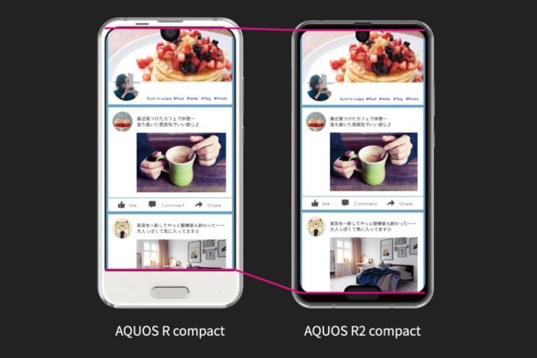 Когда одной брови уже недостаточно: Sharp сделала смартфон с двумя вырезами в экране