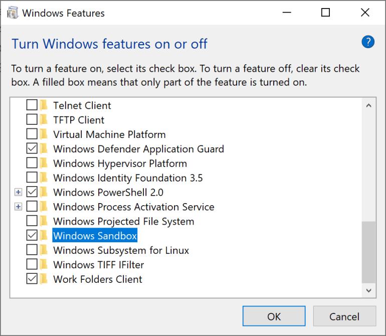 В Windows 10 появится своя «песочница» для безопасного запуска подозрительных файлов EXE
