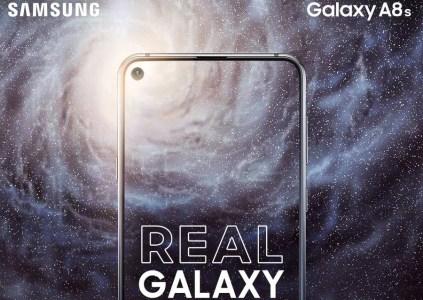 Samsung официально анонсировала смартфон Galaxy A8s, оснащенный экраном Infinity-O с круглым вырезом под фронтальную камеру