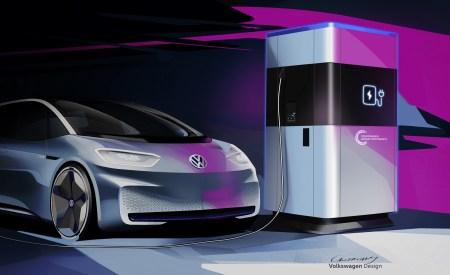 Volkswagen будет серийно производить мобильные скоростные зарядки с внутренней батареей от электромобилей VW MEB