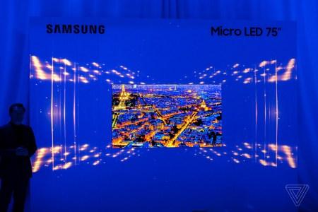 Samsung показала 75-дюймовый 4K телевизор на базе технологии MicroLED