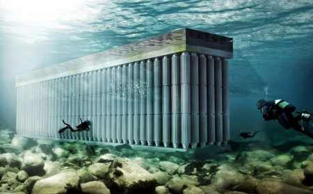 Parthenon Seawall — концепт необычной приливной электростанции, созданный нидерландскими архитекторами