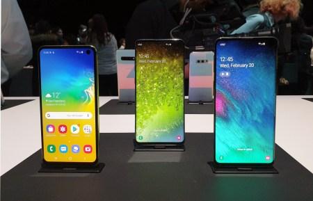 Galaxy S10+, S10 и S10е — первый взгляд на новые флагманы Samsung