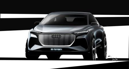 Немцы показали первые официальные изображения компактного электрокроссовера Audi Q4 e-tron. Концепт представят в Женеве весной, серийная версия выйдет в 2020-2021 годах
