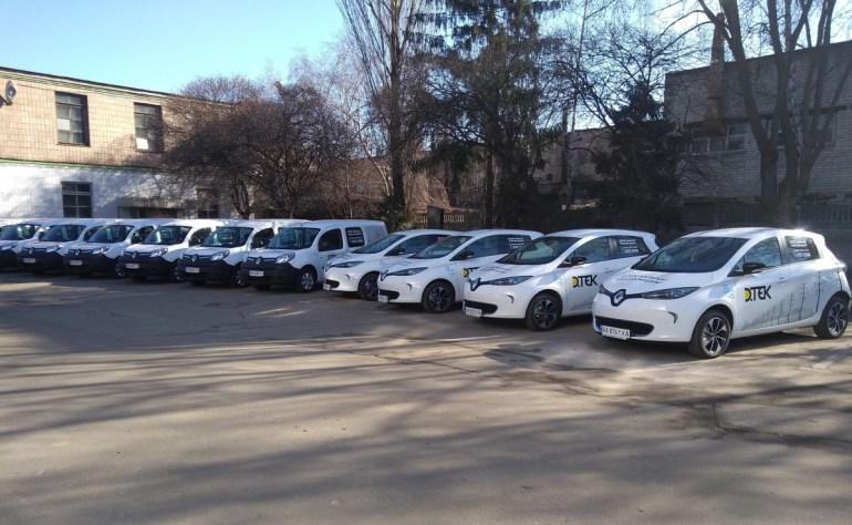 """Компания """"ДТЭК Киевские электросети"""" закупила электромобили Renault ZOE и KANGOO Z.E. для обслуживания электросетей столицы"""