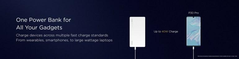 40-ваттный портативный аккумулятор Huawei емкостью 12 000 мА·ч подходит и для зарядки ноутбуков, но стоит 100 евро