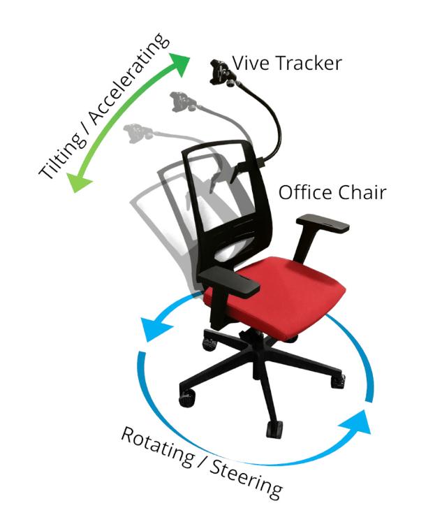 Немецкие инженеры превратили офисное кресло в контроллер для виртуальной реальности