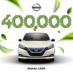 Nissan Leaf стал первым электромобилем в истории, которому удалось преодолеть отметку в 400 тыс. проданных экземпляров