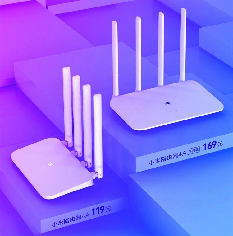 Новые домашние (двухдиапазонные) роутеры Xiaomi Mi Router 4A и Mi Router 4A Gigabit стоят $18 и $25 соответственно