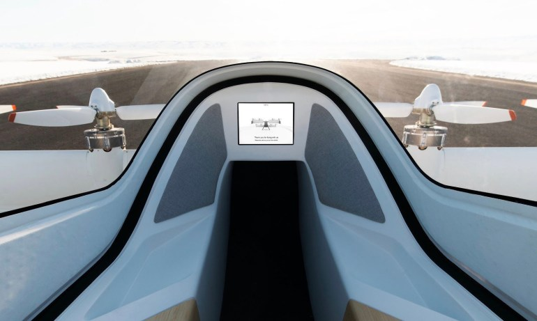 Airbus показал интерьер воздушного такси Vahana