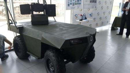 Запорожская компания «Инфоком ЛТД» показала боевого колесного робота «Ласка 2.0»