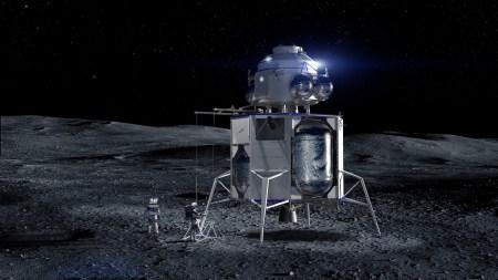 Blue Origin Джеффа Безоса показала макет лунного посадочного модуля Blue Moon и анонсировала пилотируемый полет на Луну в 2024 году