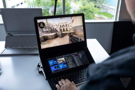 Видео дня: прототип необычного игрового ноутбука-трансформера Intel Honeycomb Glacier, оснащенного двумя экранами - ITC.ua