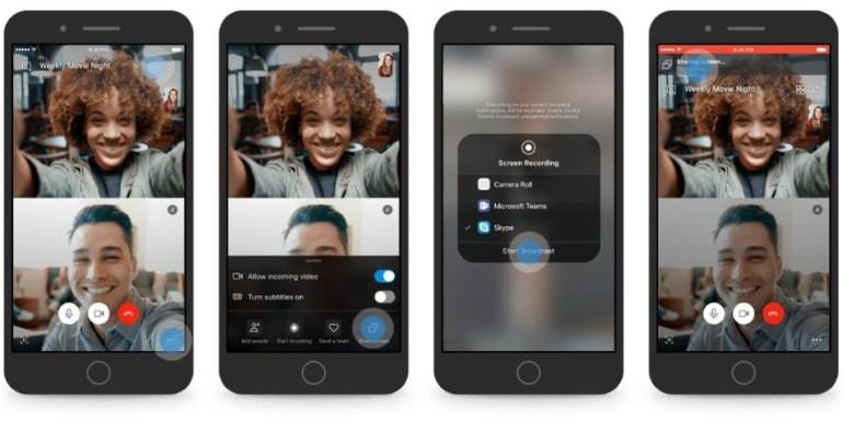 В мобильной версии Skype для iOS и Android появилась функция совместного использования экрана