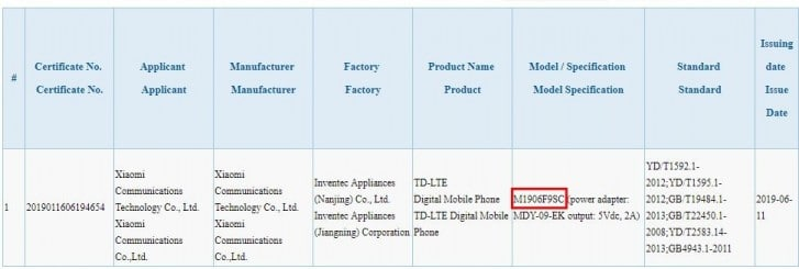Бюджетный смартфон Redmi 7 Pro (он же Xiaomi Mi A3 Lite) уже сертифицирован в Китае