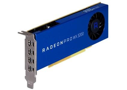 AMD выпустила профессиональную видеокарту Radeon Pro WX 3200 стоимостью $200, ориентированную на пользователей CAD программ