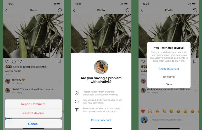 Instagram анонсировал новые защитные функции для борьбы с оскорблениями и травлей